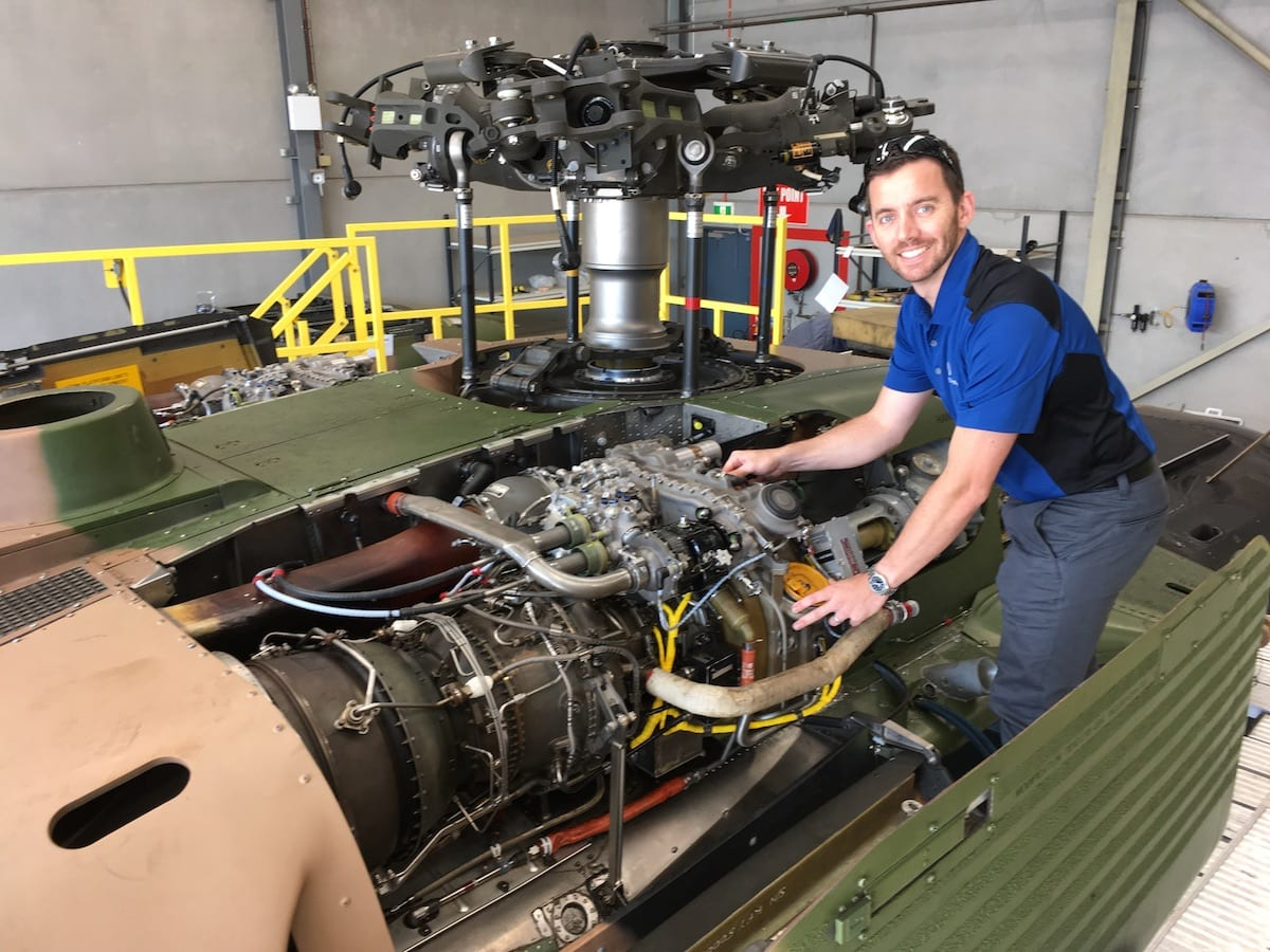 Peter Miani Ge S Lead Field Service Engineer For T700 Engines In Australia And New Zealand Credits A Proactive Maintenance Culture His Team Time