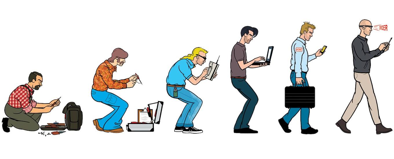Comic Brake: The Evolution of Field Service