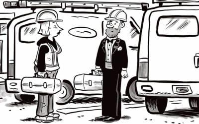 Comic Brake: Black Tie Service