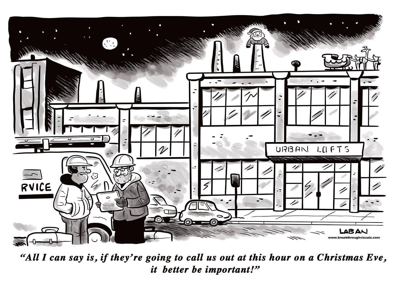 Comic Brake: Stuck Santa