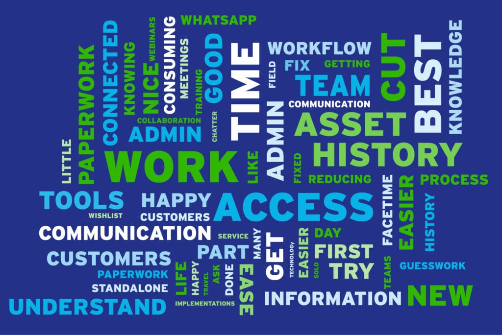 What technicians want word cloud